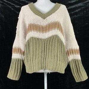 Pol Small Sweater Oversized V Neck Long Sleeve